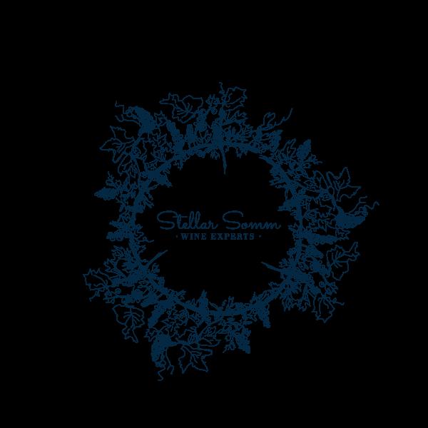 Stellar Somm  Wine Experts wreath logo